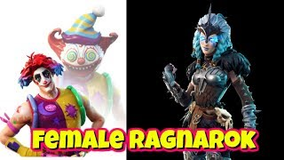 LEAKED NEW FEMALE RAGNAROK SKIN AND CLOWN SKINS IN FORTNITE