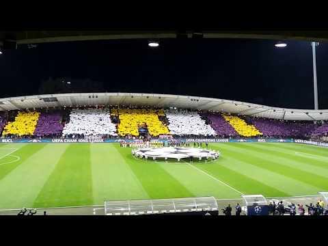 NK Maribor - Hapoel Beer Sheva (koreografija in himna Liga prvakov)