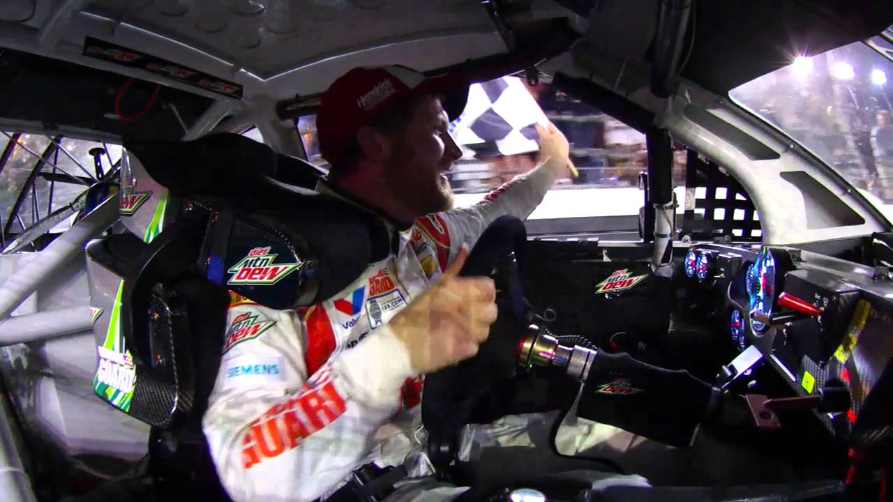 NASCAR | In-car camera of Dale Earnhardt Jr. Daytona 500 win - YouTube