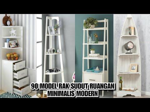 90 Model Rak Sudut Ruangan Minimalis Modern Youtube