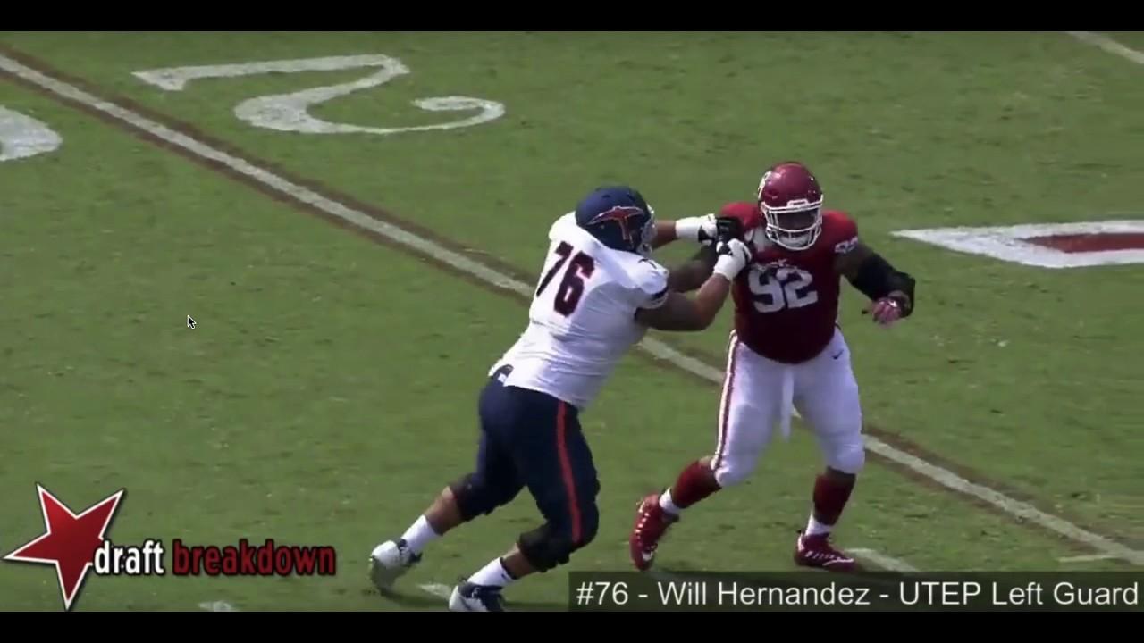 02a851fd4 NFL Draft Geek Film Room 29 - Will Hernandez - YouTube