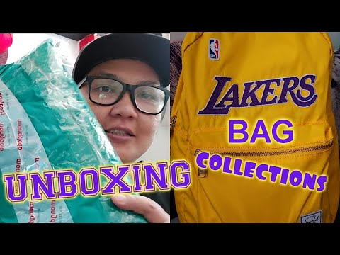 LOS ANGELES LAKERS BAG COLLECTIONS   UNBOXING HERSCHEL