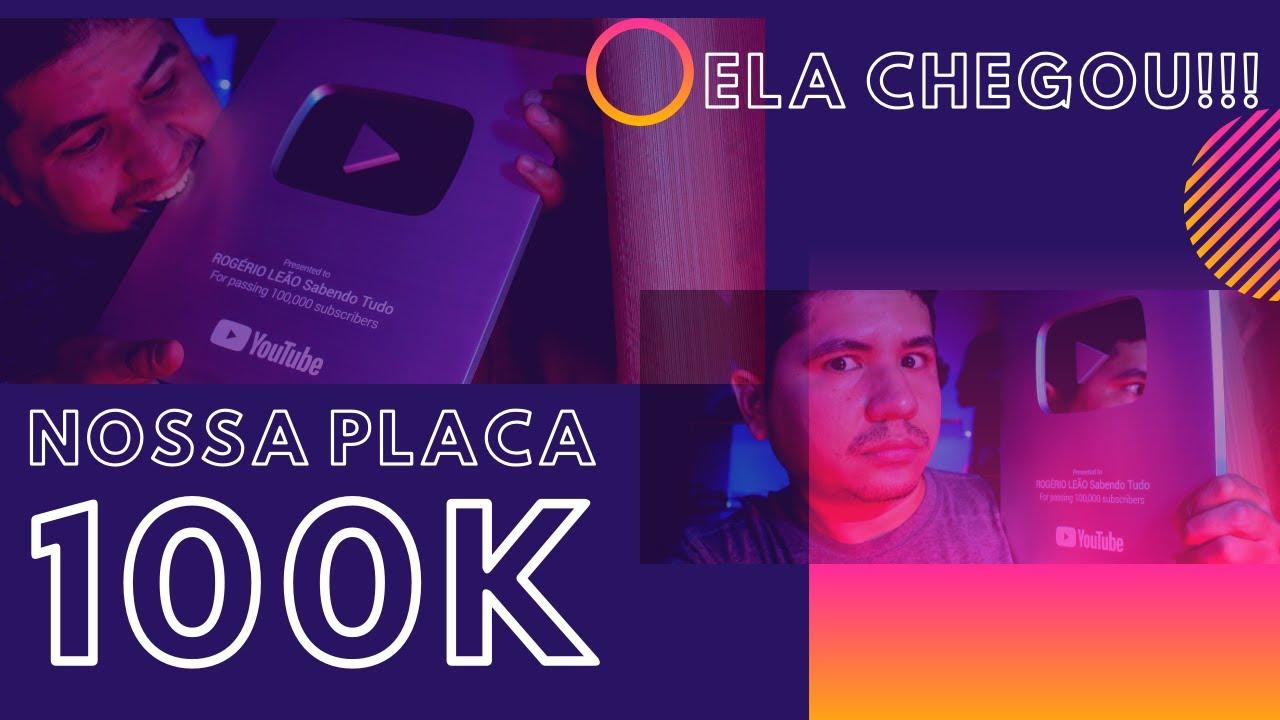 RECEBI A PLACA DE 100K DE INSCRITOS #100k #placa #placade100k
