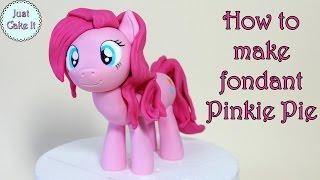 How to make fondant Pinkie Pie pony / Jak zrobić kucyka Pinkie Pie z masy cukrowej