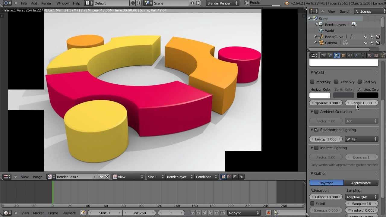 Ubuntu Logo In Blender 3D