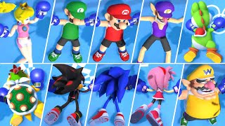 Mario & Sonic at the Olympic Games Tokyo 2020 - All Character KO Animations (Boxing)