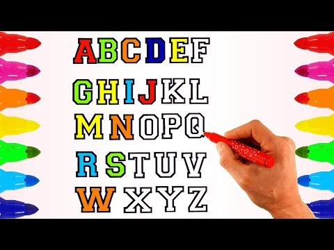 Alphabets Coloring pages Learn Alphabet ABC Song fro Kids Children Toddlers Learn Colors for Babies