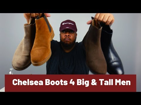 Chelsea Boots for Big & Tall men