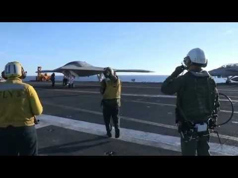 X-47B UCAS Performs First Taxi on Carrier Under Way - 12/9/12