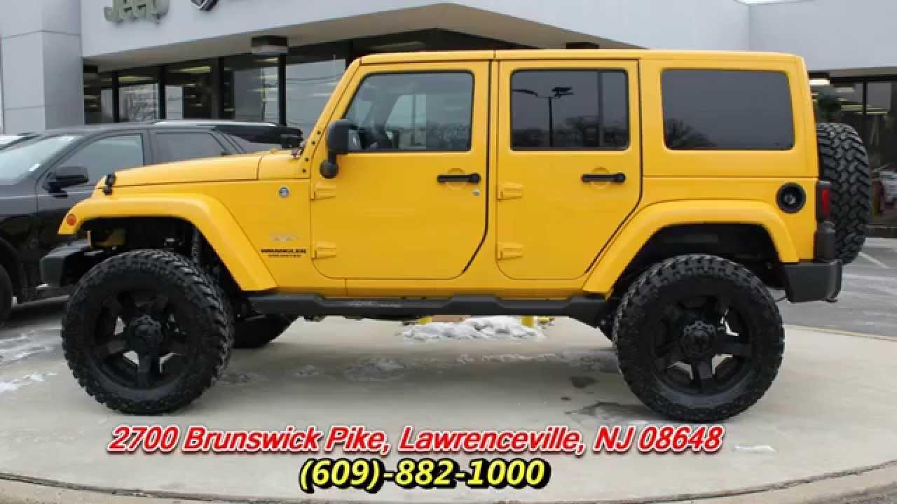 2015 Jeep Wrangler Unlimited Sahara Baja Yellow - YouTube