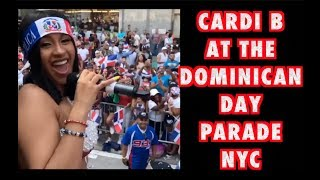 CARDI B AT THE DOMINICAN DAY PARADE 2017