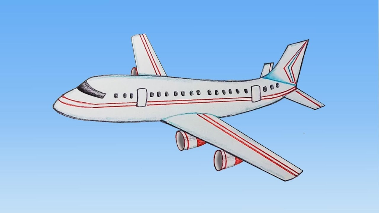 How To Draw Aeroplane Step By Step Very Easy Youtube