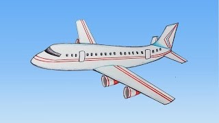 How to draw aeroplane step by step (very easy)