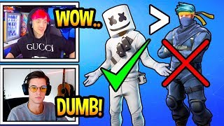 Streamers UPSET After Marshmello Gets A Skin Before NINJA! (Fortnite Moments)