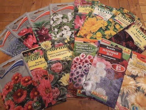 Цветы на срезку-топ 10.Обзор семян цветов.Новинки.