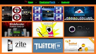 #117 Top 10 Android APPS - Best of The Week - Desktop Power Twitch 2012