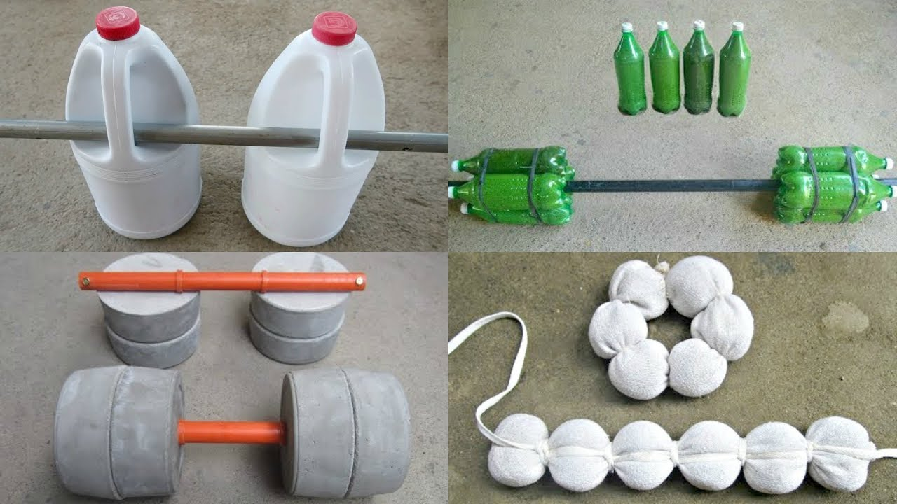 How to Make Homemade Dumbbell For Free - DIY Weights