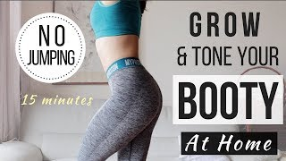 15 min No Jumping Booty Workout! Get Rid of Cellulite + Toning