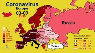 How the Coronavirus Spread across Europe (Since January)