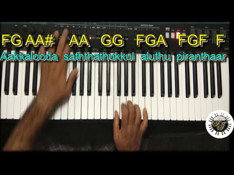 Bethalaiyil Piranthavarai SONG IN KEYBOARD, LEAD, WITH NOTES.scale- F Major,