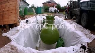 Подготовка к установке газгольдера