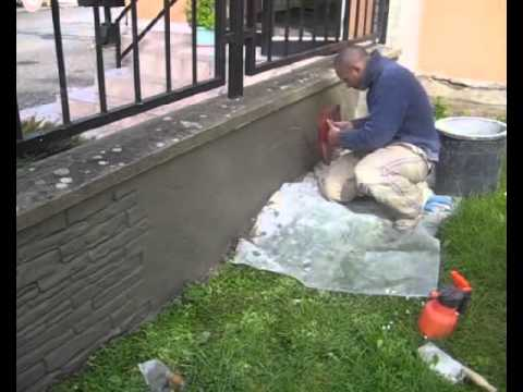 1 2 How To Make Fence Stone Veneers Stucco Cladding Using