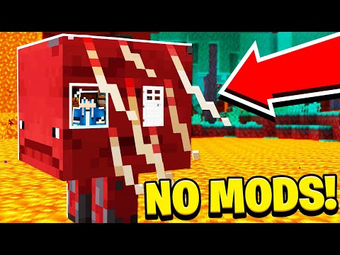 How to LIVE Inside a STRIDER in Minecraft Tutorial! (NO MODS!)