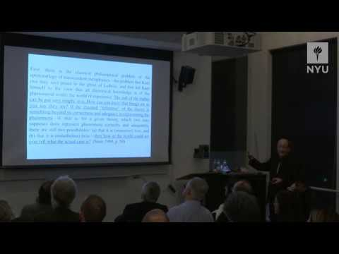 "NYIP Lecture Series, 3/28: Michael Friedman; ""Scientific Philosophy from Kant to Kuhn and Beyond"""
