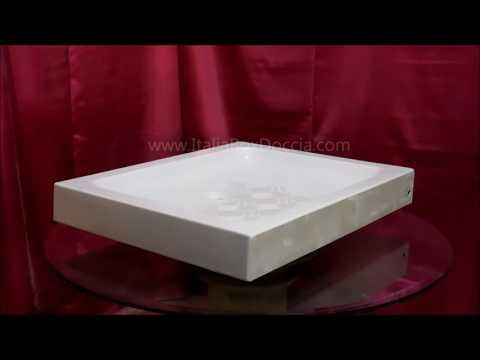 Piatto Doccia in Ceramica 70x85 cm h 11
