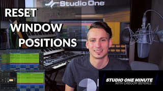 How to reset window positions #StudioOneMinute