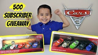 NEW CARS 3 2018 TOYS | PAUL CONREV, PISTON CUP COMPETITION GIVEAWAY
