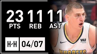 Nikola Jokic Triple-Double Full Highlights vs Clippers (2018.04.07) - 23 Pts, 11 Reb, 11 Assists