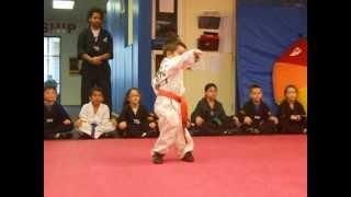 Three year old at Karate
