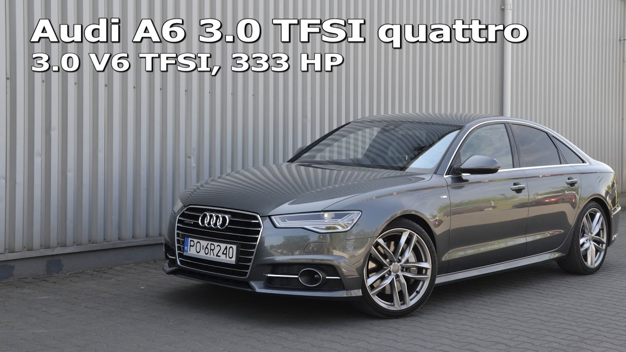 audi a6 3 0 tfsi quattro 333 hp acceleration 0 100 0 140 0 200 km h 1001cars youtube. Black Bedroom Furniture Sets. Home Design Ideas