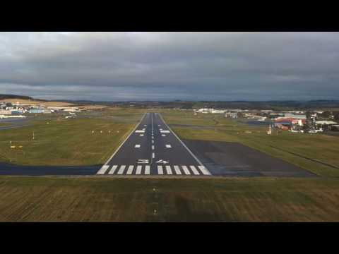 Approach And Landing Into Aberdeen Scotland From The Cockpit