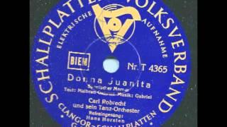 Donna Juanita - Hans Horsten, Cral Robrecht & sein Tanzorchester