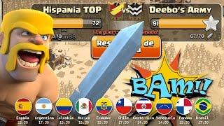 Resumen Deebo's Army vs Hispania TOP | Clash of Clans