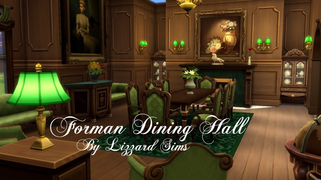 The Sims 4 | Formal Dining Hall | Room Build