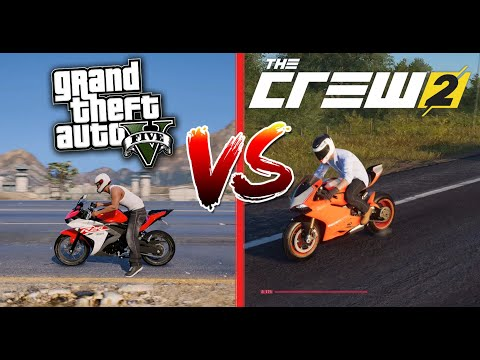 Мотоцикл КАКОЙ КРУЧЕ? | GTA 5 VS THE CREW 2|🔴|СРАВНЕНИЕ ИГР| GAME COMPARISON✅1080HD