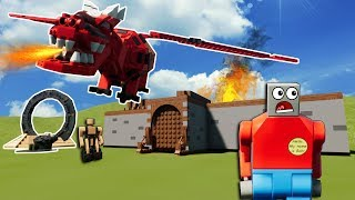 LEGO DRAGON DESTROYS CASTLE & VILLAGE! - Brick Rigs Gameplay Roleplay - Lego Movie Apocalypse