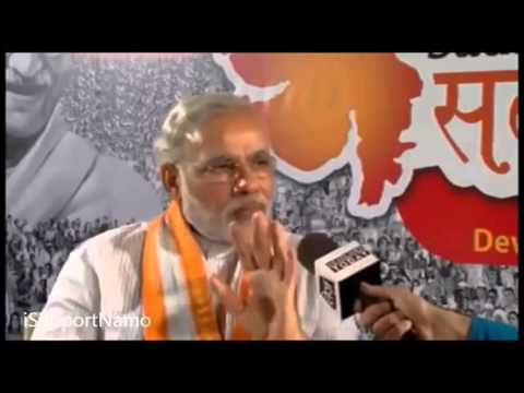 Watch How Narendra Modi Destroyed Rahul Kanwal a Seudo Secular Journalist