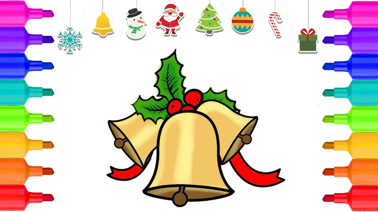 christmas coloring pages jingle bells xmas coloring coloring book christmas bells