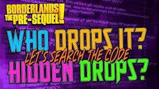 List of LEGENDARY/UNIQUE DROPS by Enemy in Borderlands the Pre-Sequel