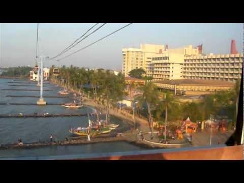 تلفريك غوندولا أنشول جاكرتا إندونيسيا Gondola Ancol Cable Jakarta Indonesia