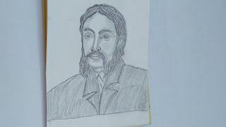 How to draw Micнael Madhusudan Dutta/ portrait on Michael Madhusudan Dutta