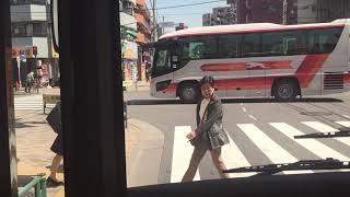 【トヨタ燃料電池バス】京急バス 井30系統お台場経由循環大井町駅西口行き前面展望