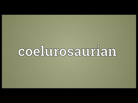 Coelurosaurian Meaning