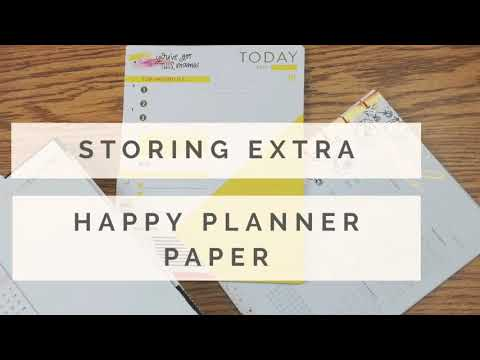 Storing your Happy Planner paper packs