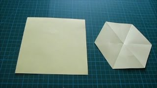 Art and Craft: How to cut Regular Hexagon from a Square paper