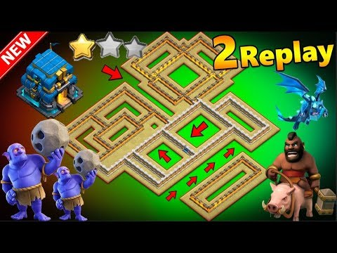 NEW TH12 WAR BASE 2018 Anti 1 Star/Anti 2 Star With 2 ...